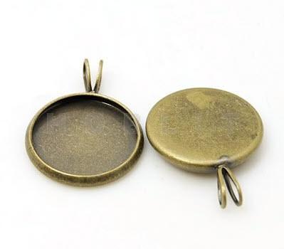 Cabochonhanger Brons 14 mm
