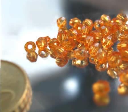 8 Gram Transparant Facet Kraaltje Oranje