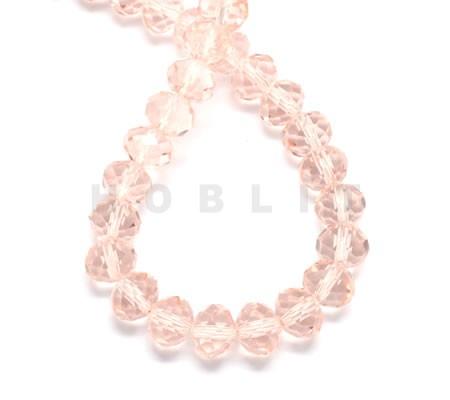 Snoertje 150 stuks Facet Licht Roze