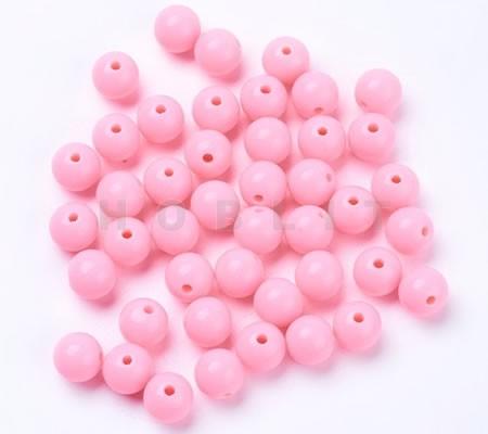 50x Glanzende Kraal Roze