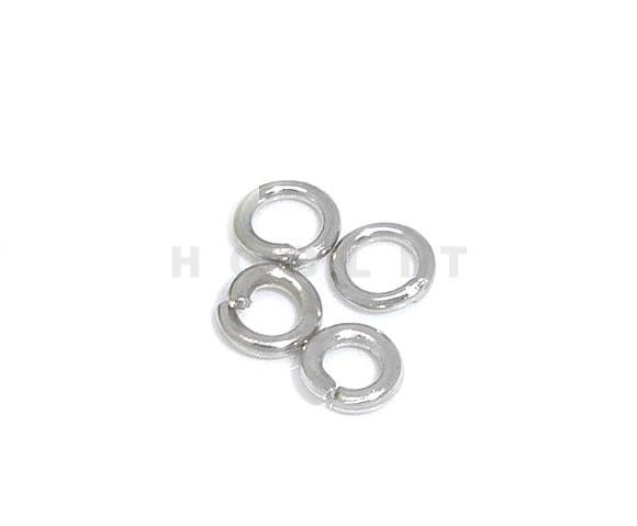 Open Ring 3 mm Donker Zilver