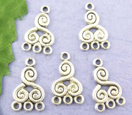 Ornament Donker Zilver 1-3