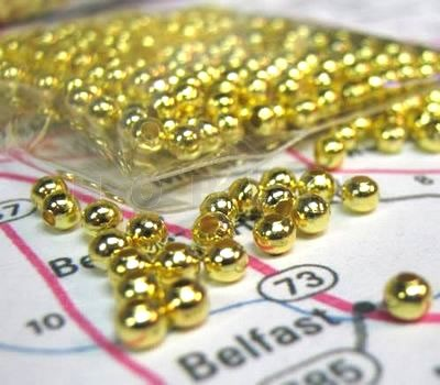 200x Metalen kraaltjes goudkleurig