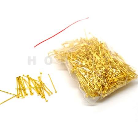 300x nietstiften goudkleurig 24 mm