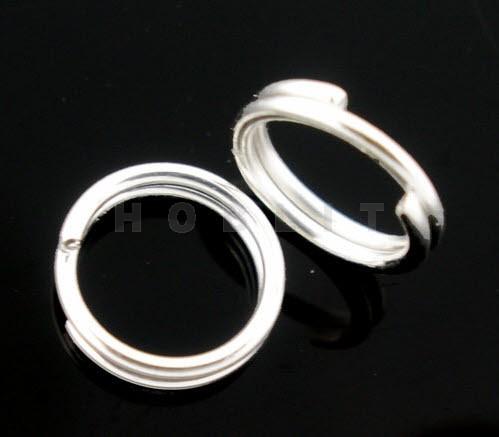 50 Splitring Licht Zilver