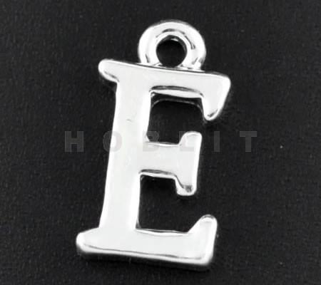 """1x Bedel lichtzilver - letter """"E"""""""