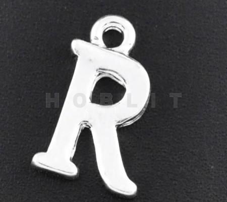 "1x Bedel lichtzilver - letter ""R"""