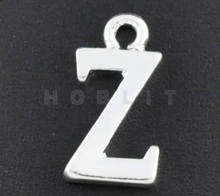"1x Bedel lichtzilver - letter ""Z"""