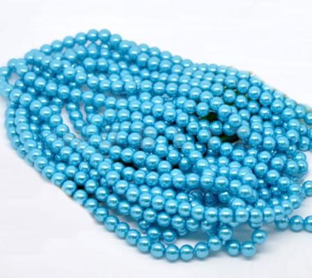 Snoertje Glasparel 8 mm Turquoise