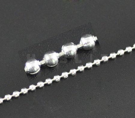 5 Meter Ballchain Licht Zilver 2.0 mm