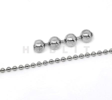 Ballchain donker zilver 2.4 mm