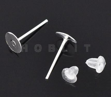 Oorbel Plakstekertjes / Plakvlak 6mm