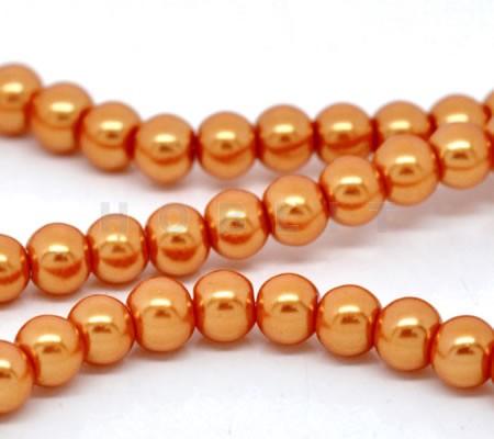 Snoertje Glasparels 4 mm Oranje