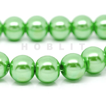 Glasparel snoertje - 10 mm  Appelgroen