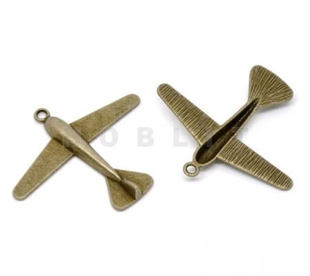 1x Bedel Vliegtuig Brons (grote bedel)