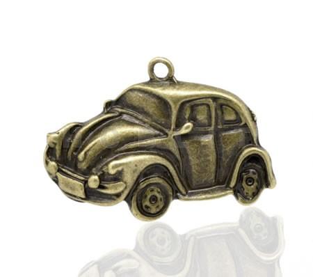 1x Bedeltje Auto Brons (grote bedel) VW Kever