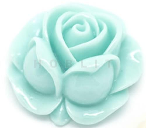 Kunsthars Roosje Licht Turquoise