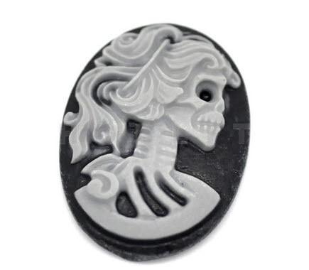 Camee Lady Skull Zwart/Grijs