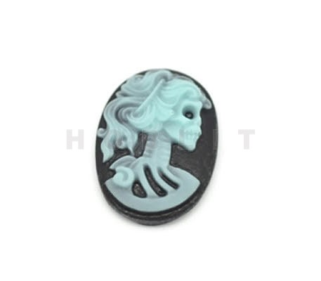 Camee Lady Skull Turquoise/Zwart