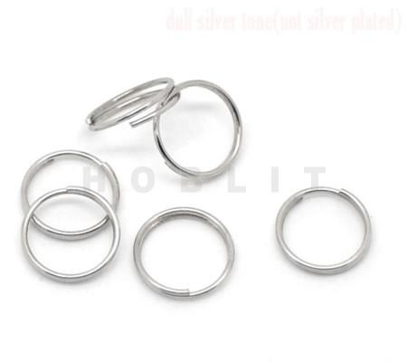 50x Split Ringen Donker Zilver