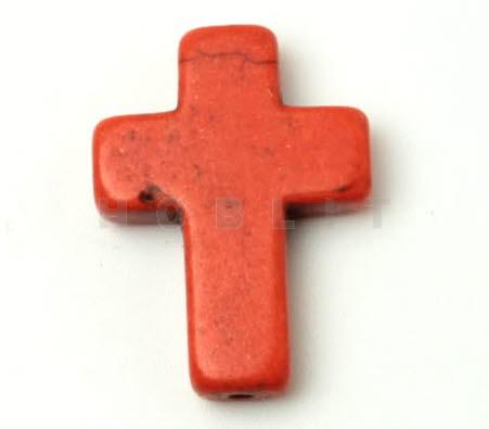 Gekleurd Howliet Kraal Kruisje Oranje
