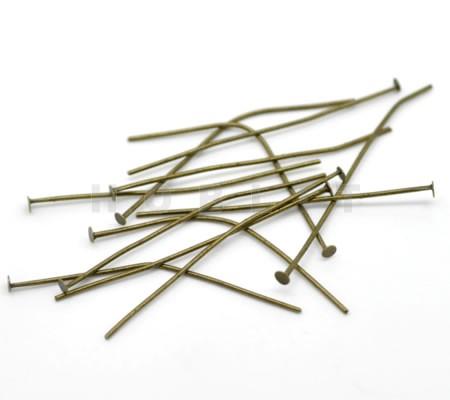 200x Nietstiften Brons Lengte 40 mm Dikte 0.8 mm