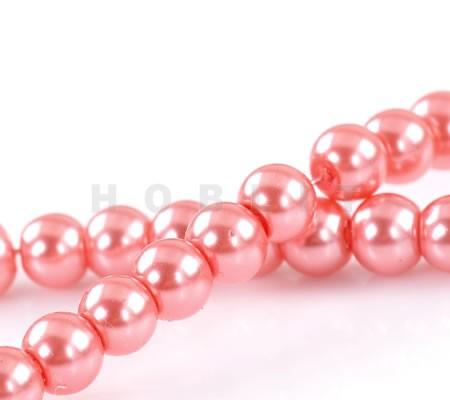 Snoertje Glasparel 6 mm Donker Roze