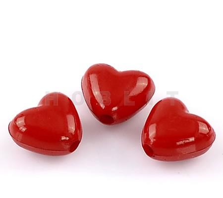 Rode acryl hartjes
