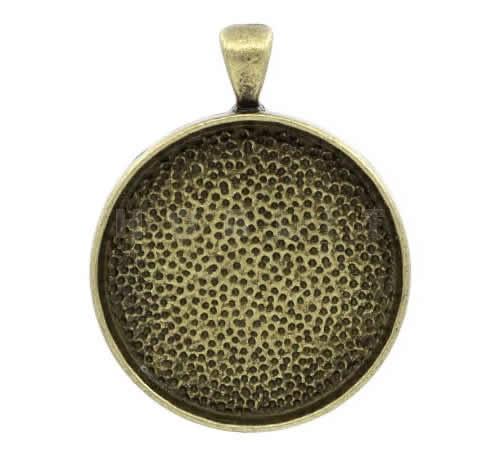 Cabochonhouder brons 30 mm
