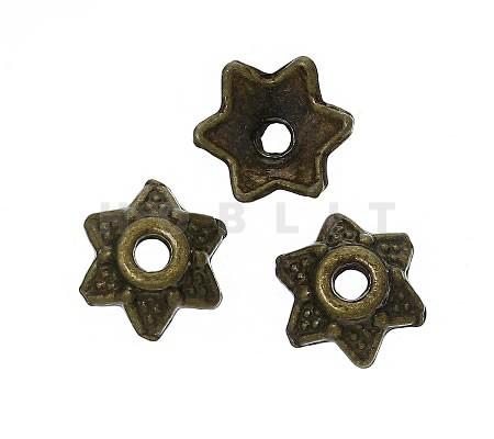 100x Kralenkapjes Brons