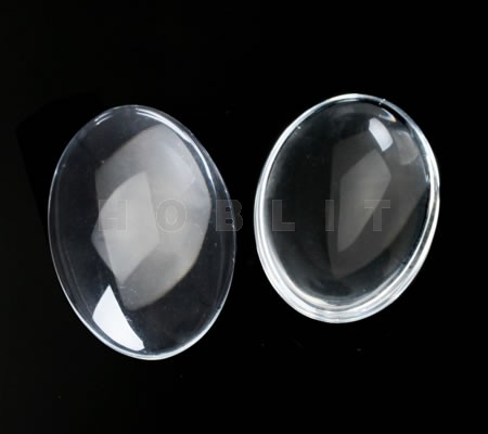 1x glas cabochon 20 x 30 mm