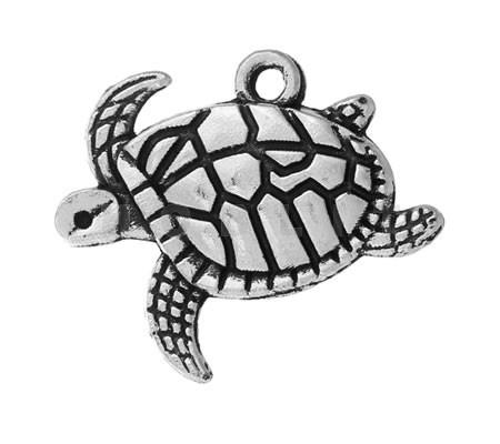 Bedeltje Donker Zilver Schildpad