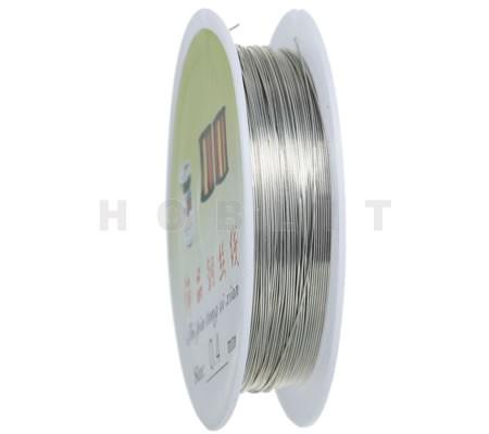 Rol Metaaldraad 0.4 mm Donker Zilver