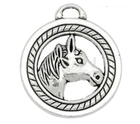 1x Bedel Paard Donker Zilver