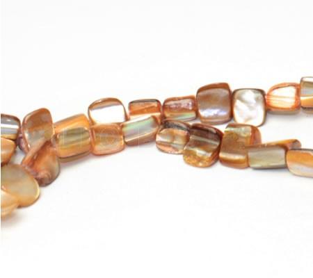 Snoertje schelpblokjes Oranje/Bruin