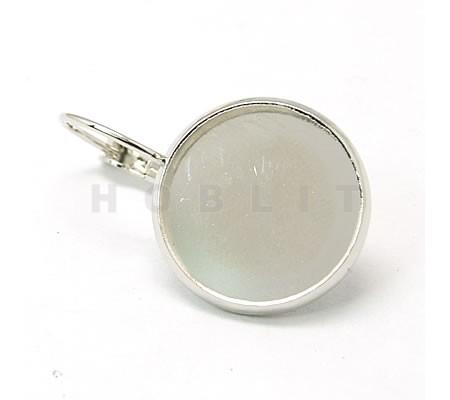Lichtzilver haakjes voor 16 mm cabochon