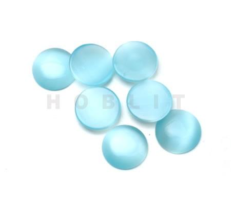 Glazen Catseye Cabochon Licht Blauw