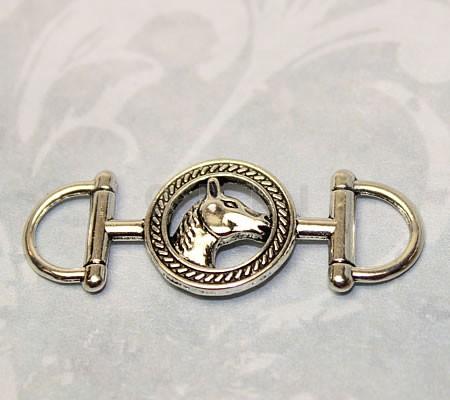 1x Connector Donker Zilver Paardje
