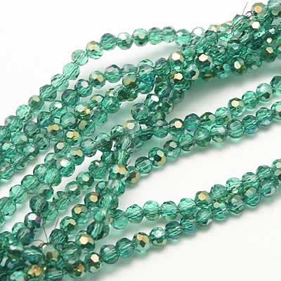 Snoertje 100 stuks Facet Turquoise/Groen AB