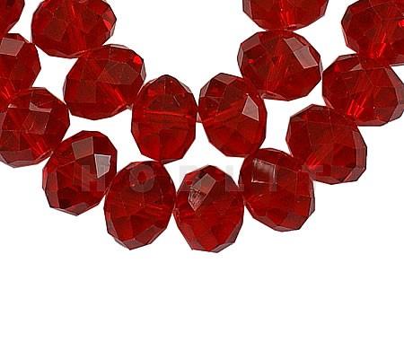 Snoertje 150 stuks Facet Rood