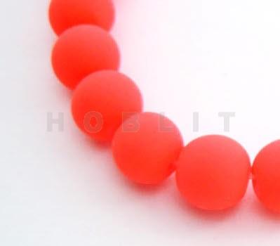 Snoertje (50 Stuks) Fluoricerend Mat Donker Oranje