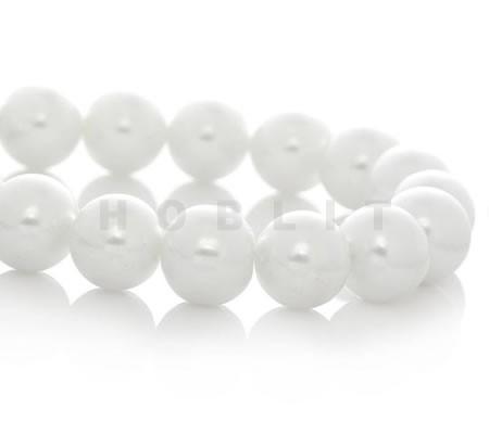 Glasparel snoertje - 12 mm Wit (35 stuks)