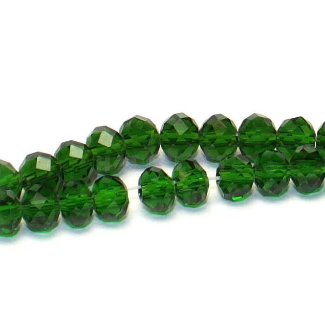 Snoertje Facet Kralen Groen (100 stuks)