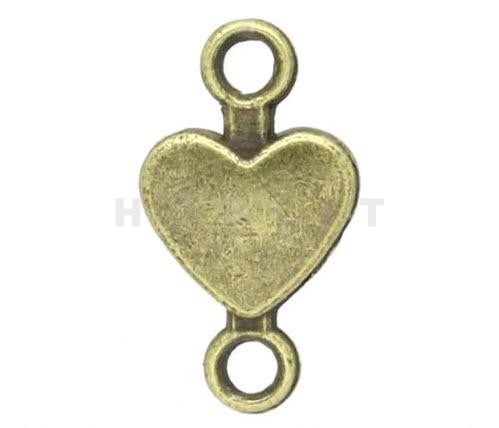 1x Bronzen connector Hartje