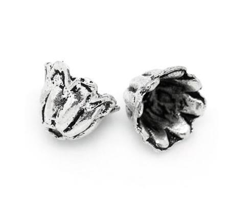 4x Kapjes Donker zilver 5 mm