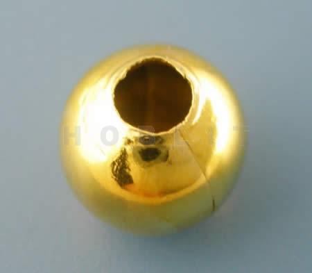 10x metaal rond Goudkleurig