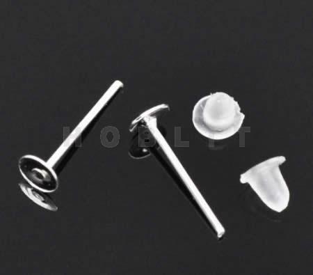 Oorbel Plakstekertjes / Plakvlak 4mm