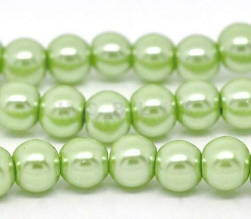 Snoertje Glasparel 8 mm Pastel Groen