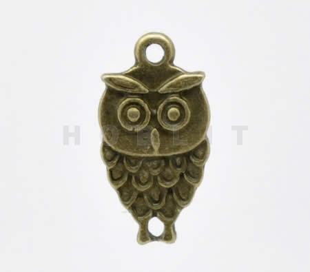 Bronzen Bedel Uil