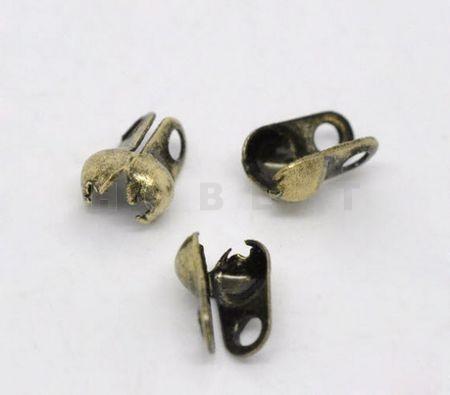 Kalotjes 6 X 4.5 mm / Brons